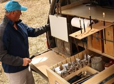 The on-the-go, car studio, plein air set up of Scott L Christensen. Covet. So. Bad!  http://www.christensenstudio.com/ or  facebook: Scott L Christensen Studio