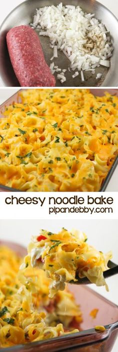 Cheesy Noodle Bake - the perfect week-night recipe!