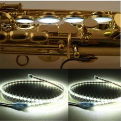 New Arrival 1PCS EU/US 100cm Saxophone Clarinet Flute Oboe LED Leak Light Sax Repair Tool Parts Accessories