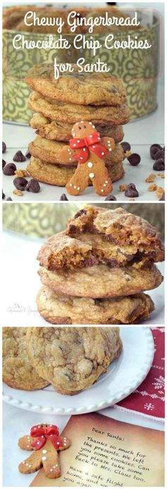 Chewy Gingerbread Chocolate Chip Cookies are perfect to give and to receive. Gingerbread, chocolate and toffee all wrapped up in one delicious cookie. | homemadeandyummy.com
