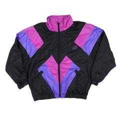 Vintage 80s 90s MISTY VALLEY Color Block Multicolor Windbreaker Jacket  Blazer Fashion 2e8249d6f42c