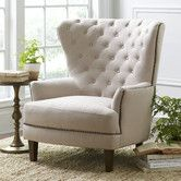 Found it at Wayfair - Gaines Chair - not this color - when you go to the site look at the taupe color.  i like this color but I am thinking it may be too light.