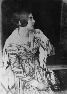 Mrs Barker (?Jane Sophia Barker (née Harden))by David Octavius Hill, and Robert Adamson calotype, 1844 http://www.npg.org.uk/collections/search/portrait/mw00335/Mrs-Barker-Jane-Sophia-Barker-ne-Harden?LinkID=mp11619=art=60=3=208