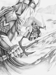 """I Am No Man by Lamorien.deviantart.com on @deviantART - Eowyn vs. the Witch King of Angmar, from """"Lord of the Rings"""""""