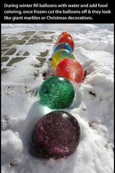Coloured ice balls