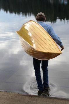 If it's true that smaller boats get used more frequently, Iain Oughtred's wee Stickleback will rarely sit idle for long. It's a featherweight canoe that's easy to carry and well suited to backwaters few other boats can explore. Canoe Plans, Wood Boat Plans, Wooden Boat Building, Boat Building Plans, Boat Crafts, Water Crafts, Canoe Trip, Canoe And Kayak, Classic Wooden Boats