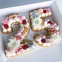 Most recent Photos fruit cake number Ideas - yummy cake recipes 27th Birthday Cake, 25th Birthday Ideas For Her, Number Birthday Cakes, 25th Birthday Parties, Happy 25th Birthday, Birthday Cakes For Women, Number Cakes, Friends Cake, Beautiful Birthday Cakes