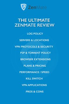 ZenMate VPN service offers easy-to-use apps and great speed. Read the complete ZenMate review in order to find more about the pros and cons of ZenMate VPN! #vpn #vpnreviews #zenmate #zenmatevpn