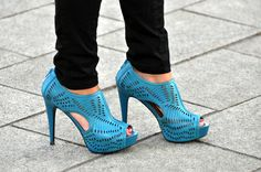 Blue shoes for a bold statement