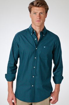 Heirloom Twill Sport Shirt in Boxwood