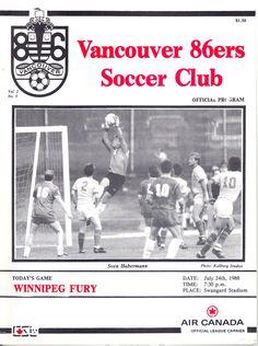 86ers vs Winnipeg Fury, 1988 Soccer League, Vancouver, Baseball Cards