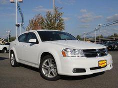 2013 Dodge Avenger SXT SXT 4dr Sedan Sedan 4 Doors White for sale in Monroe, WA Source: http://www.usedcarsgroup.com/used-dodge-for-sale-in-monroe-wa