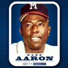 The seventh bobblehead of 2013 has been revealed! It's Hank Aaron! Check out @Bernie_Brewer on Twitter for your chance to win tickets to this game on July 7!