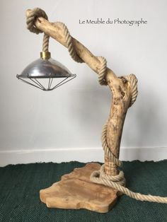 lampe bois flotté 80cm Grande Lampe, Bois Diy, Wood Lamps, Furniture Companies, Table Lamp, Lighting, Home Decor, Decoration, Driftwood Ideas
