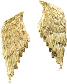 Beautifully crafted polished bronze (21,40 gr) and silver (2,00 gr) angelic wing earrings. The jewelry pieces undergo a ceramization process to preserve their brilliance and prevent oxidation.