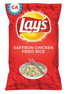 Wouldn't SAFFRON CHICKEN FRIED RICE be yummy as a chip? Lay's Do Us A Flavor is back, and the search is on for the yummiest chip idea. Create one using your favorite flavors from around the country and you could win $1 million! https://www.dousaflavor.com See Rules.