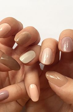 Undressed...nude nails for spring