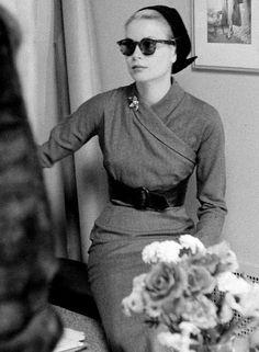 """""""Grace likes New York because she likes her Manhattan radio and tv work contacts, likes being near her family and because she has a great collection of shoes there, too many to take on her travels. She says she is crazy about shoes.""""- Modern Screen magazine, May 1954"""