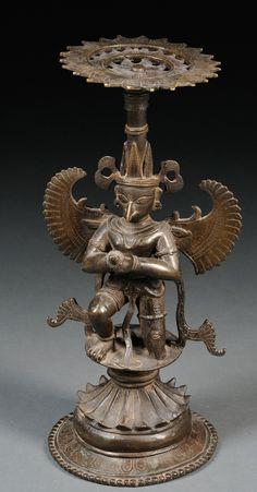 Pedestal for Salagrama with Garuda at base, Bengal