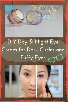 DIY Day and Night Eye Cream for Dark Circles and Puffy Eyes. the ingredients are really effective and targets all the under eye problems! care dark circles care logo care skin care tips care vision Beauty Care, Diy Beauty, Beauty Hacks For Teens, Eye Cream For Dark Circles, Eye Circles, Eyes Problems, Puffy Eyes, Puffy Eye Cream, Facial Care