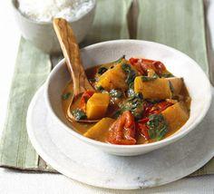 Tomato, squash & spinach curry - 131 per serving