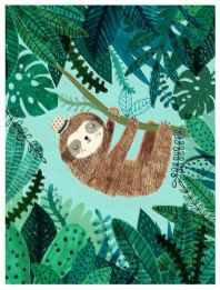Giclee print of an original illustration – Sloth….Giclee print of an original illustration – Art Texture, Guache, Children's Book Illustration, Dinosaur Illustration, Illustrations And Posters, Animal Illustrations, Art Plastique, Fine Art Paper, Art Lessons