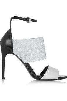 McQ Alexander McQueen Snake-effect leather sandals  fb91ccfd988