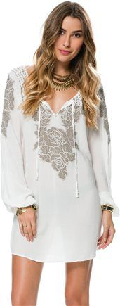 BISHOP SLEEVE EMBROIDERED TUNIC > Womens > Featured > Bleach Babe | Swell.com