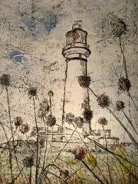 Lighthouse monoprint