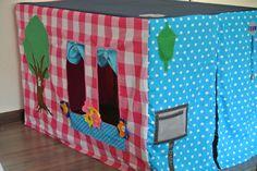 Tafeltent voor de kleinkinderen. By Amora.Creations