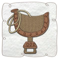 Saddle machine embroidery Design Pattern-INSTANT DOWNLOAD