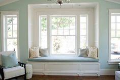 change master bedroom patio door to this window seat