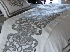 Mozart Throw White Linen / Silver Velvet (45 x 98) LT277WS
