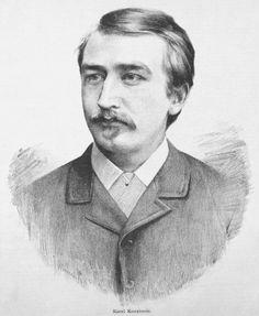 Karel Kovařovic (1862-1920), pencil drawing (1884), by Jan Vilímek (1860-1938). Published in Humoristické listy, volume 26, number 21, page 175.