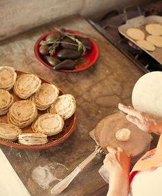 Mexico - hand shaping tortillas