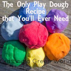 The Only Play Dough Recipe that You'll Ever Need Cream of tartar suomeksi viinikivi, saa apteekista (ja käytetään myös kasvi värjäyksessä)