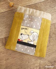 スヌーピーの小袋 - *chouchou* Hand Sewing Projects, Quilting Projects, Sewing Crafts, Patchwork Bags, Quilted Bag, Diy Bags Purses, Fabric Bags, Sewing Patterns Free, Small Bags