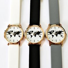 World map watch globe watch traveler gift leather watchtravel map watch watches women mens ladies watch vintage style jewelry accessories spring fashion gold rose gold silver gift unique watch 2016 gumiabroncs Images