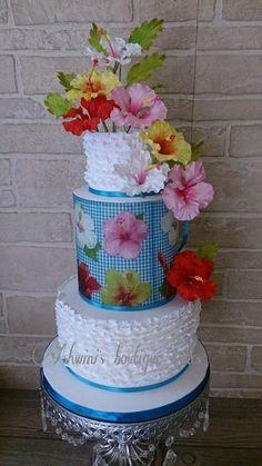 Dancing Hibiscus - Cake by Ashwini Tupe