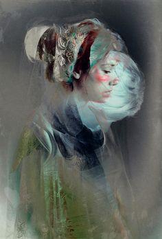 Self portrait by Feline Zegers