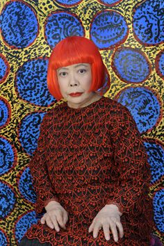 Yayoi Kusama. Yayoi Kusama (草間 彌生 b.1929) is a Japanese artist and writer.She has worked in a wide variety of media, including painting, collage, sculpture, performance art, and environmental installations, most of which exhibit her thematic interest in psychedelic colors, repetition and pattern.Periods: Contemporary art, Pop art, Minimalism. The polka dot features heavily in her work.