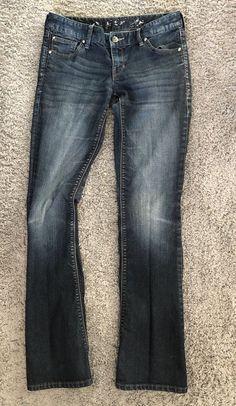 Express Women's Jeans Sz 2 Barely Boot Cut Stella Dark Wash  | eBay