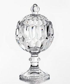 Love this Glass Pedestal Jar on #zulily! #zulilyfinds