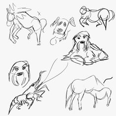 [Animal Gestures!] This is what I did during Weeklies this week!
