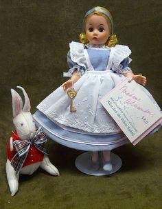 Madame Alexander Walt Disney Alice & White Rabbit Doll - MIB from happyhoundantiques on Ruby Lane