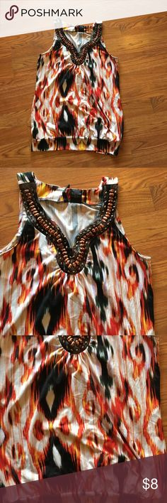 New Directions PS top, NWOT Great colors and very comfy, nice beaded neckline! new directions Tops