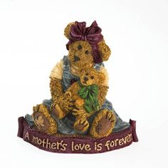 boyds bears | Boyds Bears Momma with lil' Sweet Pea…A Mother's Embrace