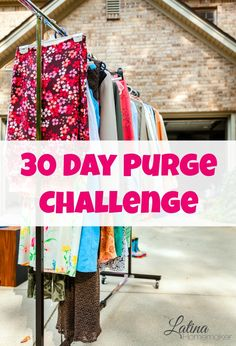 30 Day Purge Challenge {Days 18-21}. For 30 days I will purge five items each day in order to de-clutter and get rid of excess from our home. This is my progress for Days 18-21.