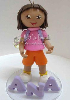 Topo personalizado Dora a aventureira fazemos outros temas também solicite um orçamento!!!