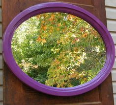 Wall Mirror Vintage Wood Framed Oval Upcycled in by GloryBDesign, $159.00
